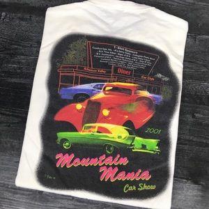 2001 Mountain Mania Car Show T-shirt